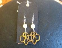 Brownie pin earrings #421