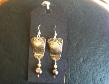 Dody's tray and grey pearl earrings #430