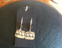 Dody's tray and smokey bead earrings #431