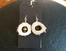 Antler and tiger's eye earrings #303