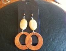 Copper rings and bead earrings #423