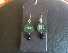 Typewriter key earrings #282