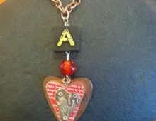 """A"" Heart Necklace #57"