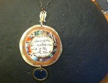 Circle Necklace with Granddaddy Mac's Sermon Card #49