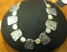 Aluminum and Mother-of-Pearl Necklace #108