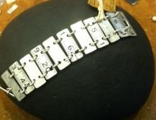 Metal Ruler and Steel Bracelet #197