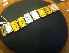 Multi Colored Wooden Ruler Bracelet #388